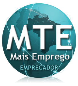 Logotipo do MTE  - Mais Emprego - Empregador